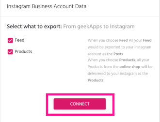 geekApps is integrated with Instagram